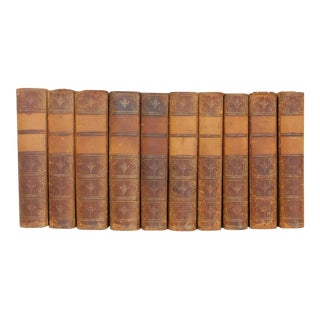 The Works of William Makepeace Thackeray Leather Volumes - Set of 10