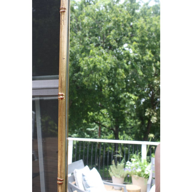 Vintage Gilt Faux Bamboo Rectangular Mirror - Image 7 of 7