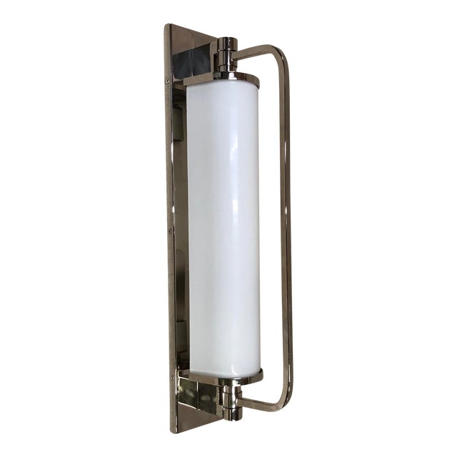 Visual Comfort Keeley Tall Pivoting Wall Sconce in Polished Nickel For Sale