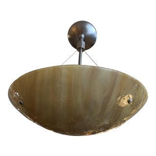 Charles Edwards Onyx + Nickel Pendant Fixture