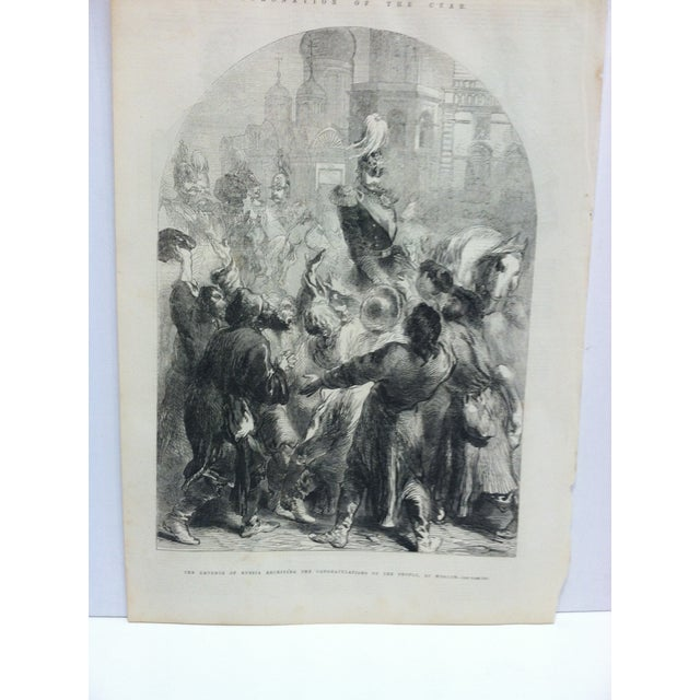 """This is an Antique The Illustrated London News Print that is titled """"The Emperor of Russia receiving the congratulations..."""