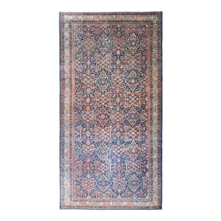 Early 20th Century Malayer Blue Rug For Sale