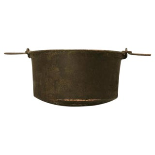 C. 1840 Handmade French Copper Cauldron For Sale