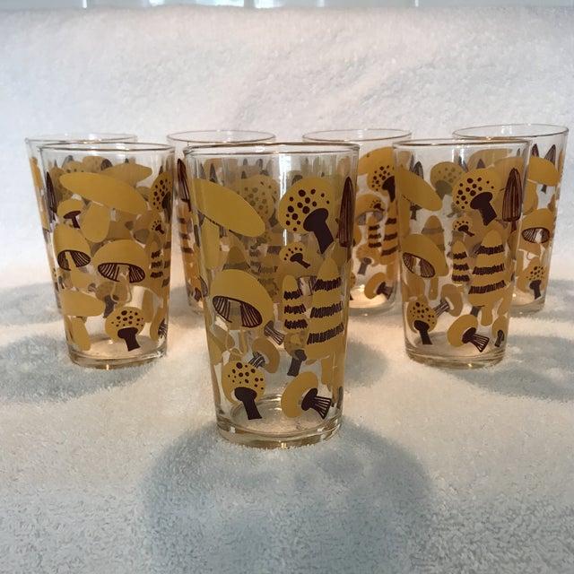Mid-Century Modern Mushroom Glasses - Set of 8 - Image 2 of 10