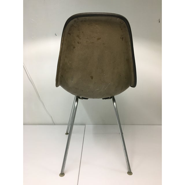 Vintage Molded Side Chair in Turquoise Naugahyde by Charles Eames for Herman Miller For Sale In New York - Image 6 of 13