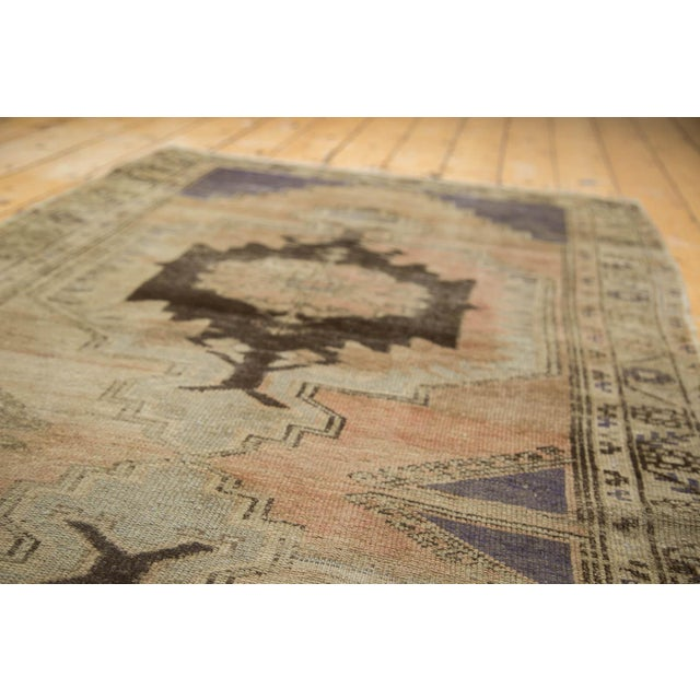 "Vintage Distressed Oushak Rug Runner - 3'7"" x 8' - Image 4 of 10"