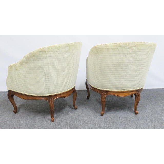 Louis XV Fruitwood Carved Club Chairs - a Pair For Sale - Image 4 of 6