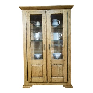 Conarte Italian Solid Oak Cabinet For Sale