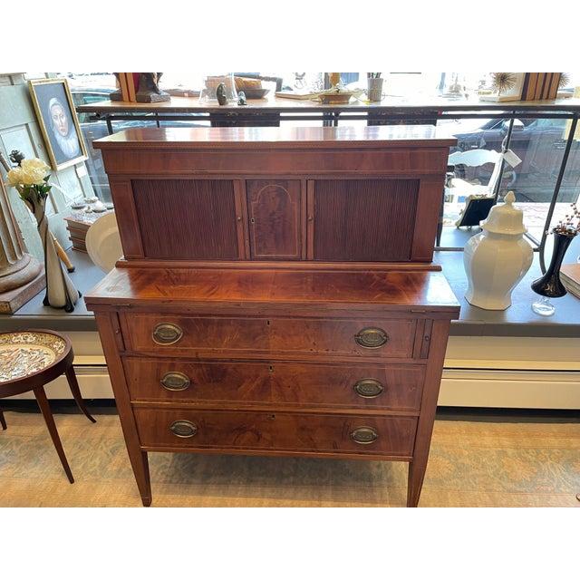 19th Century George Hepplewhite Tambour Desk For Sale - Image 13 of 13