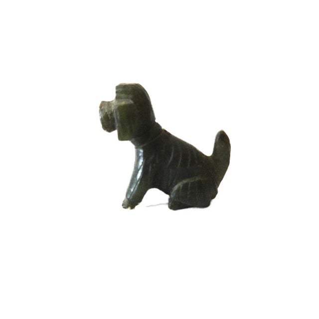 Vintage Miniature Jade Sculpture of a Dog circa 1950's For Sale - Image 5 of 6