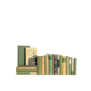 Midcentury Mini MIX - Green & Gold : Set of Twenty Decorative Books
