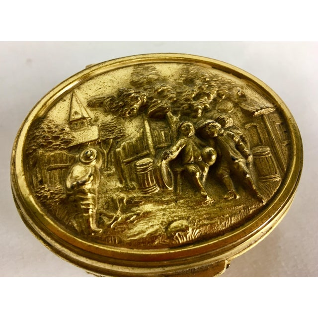Silk 1900s French Gilded Ring Box For Sale - Image 7 of 9