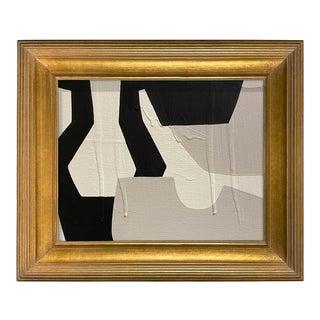Ron Giusti Mini Sake Flask and Cups No. 6 Acrylic Painting, Framed