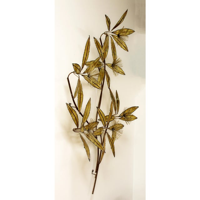 For your consideration is a brilliant, brass wall sculpture of flowers, signed Curtis Jere, dated 1981. In excellent...