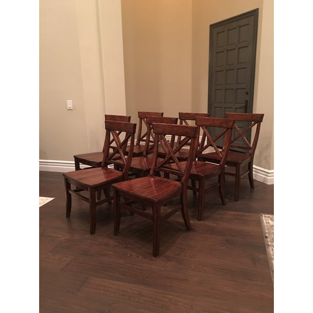 Aaron Wood Seat Chairs - Set of 8 For Sale In Los Angeles - Image 6 of 8