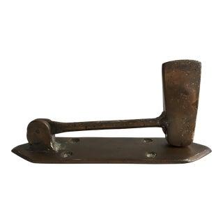 1960s Brass Axe Door Knocker For Sale