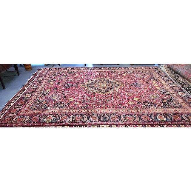 Semi Antique Persian Medallion Rug - 9' x 12' - Image 5 of 10