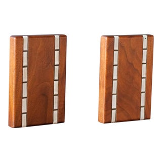 Mid-Century Modern Marshall Studios Martz Walnut Bookends - a Pair For Sale