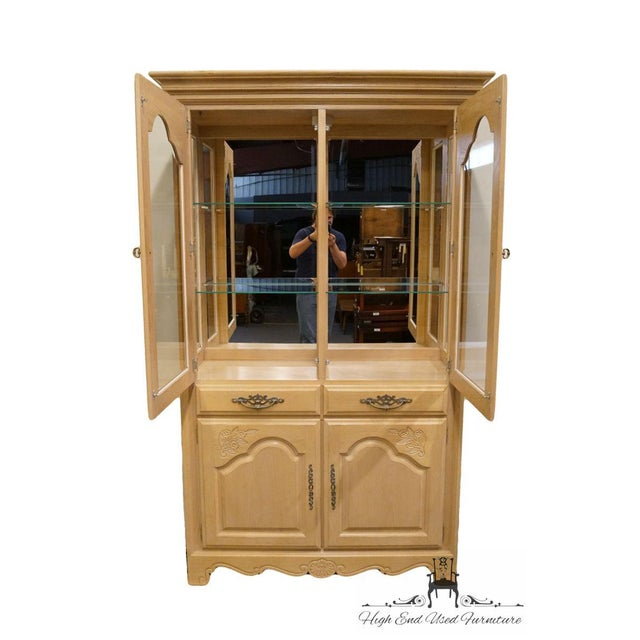 Stanley Furniture Stanley Furniture Country French Blonde Display China Cabinet For Sale - Image 4 of 13