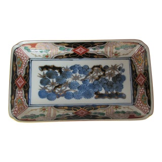 Porcelain Blue & White Chinoiserie Dish For Sale