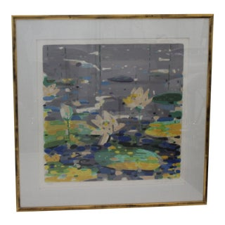 Lilypond Serigraph by Pang Jen For Sale