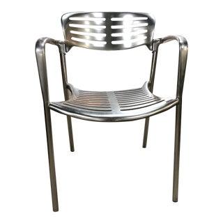 6 Signed Jorge Pensi Vintage Metal Toledo Chairs For Sale