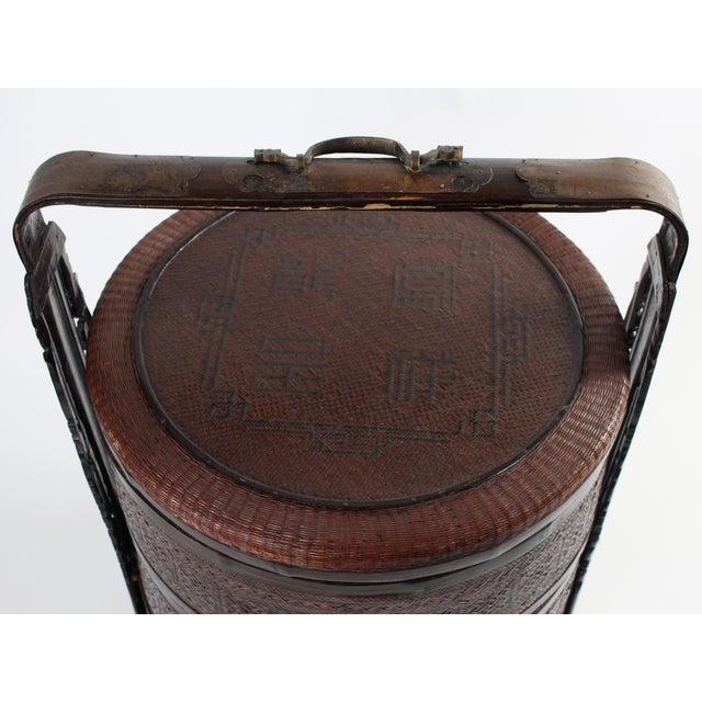 Giant Antique Chinese Wedding Basket For Sale - Image 4 of 11