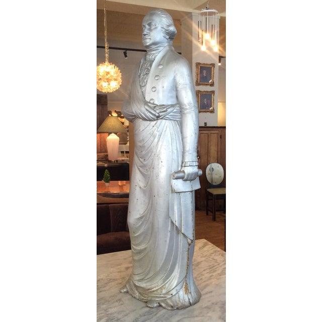 Figurative George Washington 1870's Cast Iron Stove Figure For Sale - Image 3 of 12