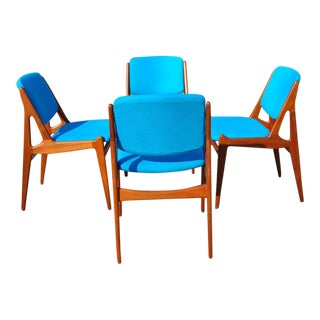 Teak Danish Dining Chairs by Arne Vodder - Set of 4 For Sale