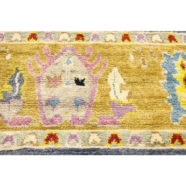 Early 21st Century Contemporary Oushak Inspired Area Rug - 9′3″ × 12′5″ For Sale - Image 5 of 9
