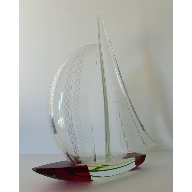 Alberto Donà Sailboat Sculpture by Alberto Dona' For Sale - Image 4 of 10