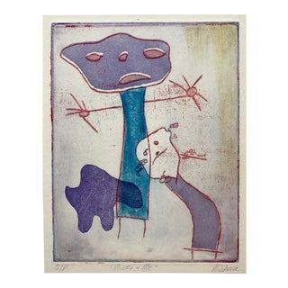 Abstract Figures Lithograph For Sale
