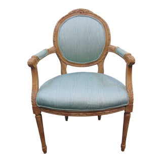 Louis XVI Style Upholstered Armchair For Sale