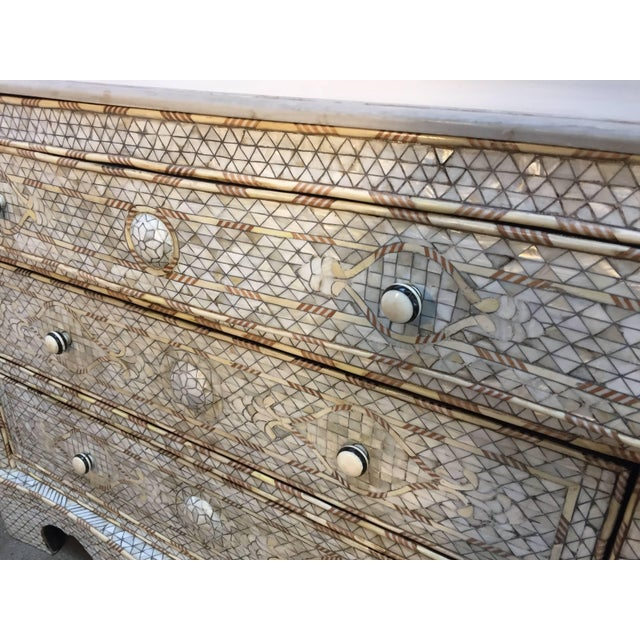 20th Century Moroccan White Syrian Wedding Chest of Drawers For Sale - Image 4 of 9