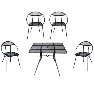 Rid-Jid Mid-Century Modern Steel Outdoor Patio Dining Set