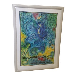 "Beautiful Marc Chagall Poster ""Die Zauberflote"" for the Metropolitan Opera For Sale"