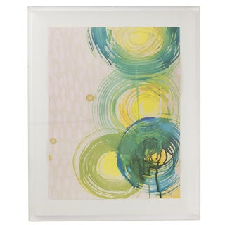 "Alex K. Mason ""Aqua Spin Series With Lilac C"" Giclée Print in Plexi Frame For Sale"
