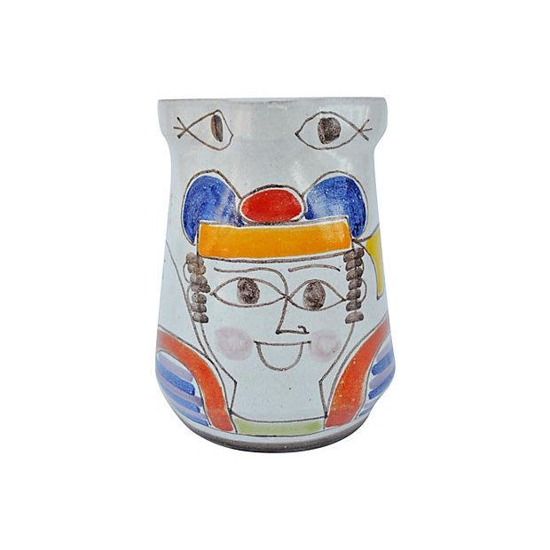 Hand-Painted Italian Pitcher For Sale - Image 4 of 4