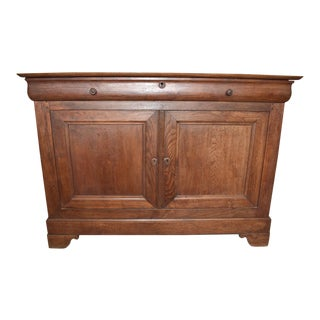 Vintage Louis Philippe Oak Buffet For Sale