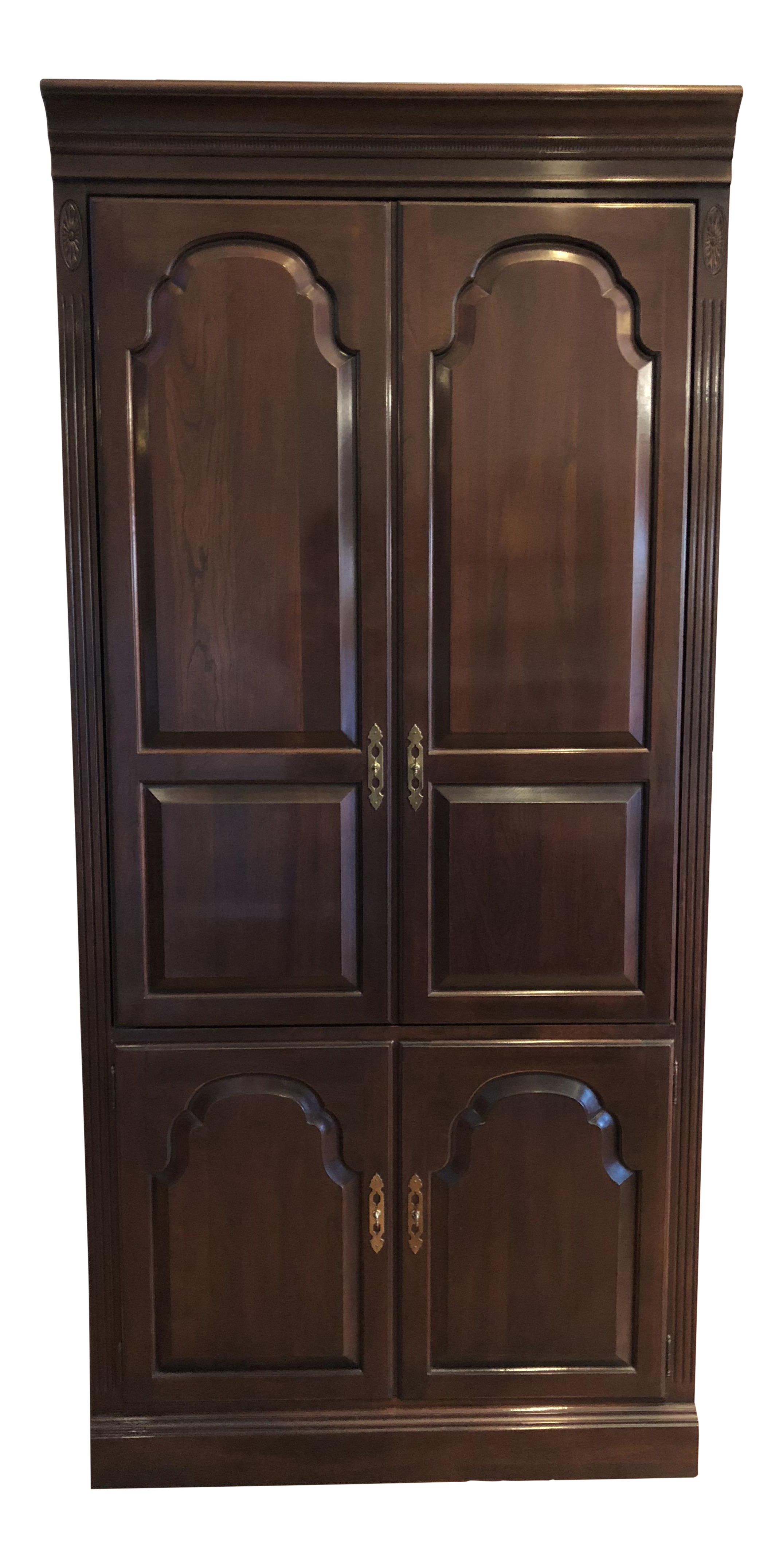 Superbe Ethan Allen Georgian Court Solid Cherry Armoire   Image 1 Of 11