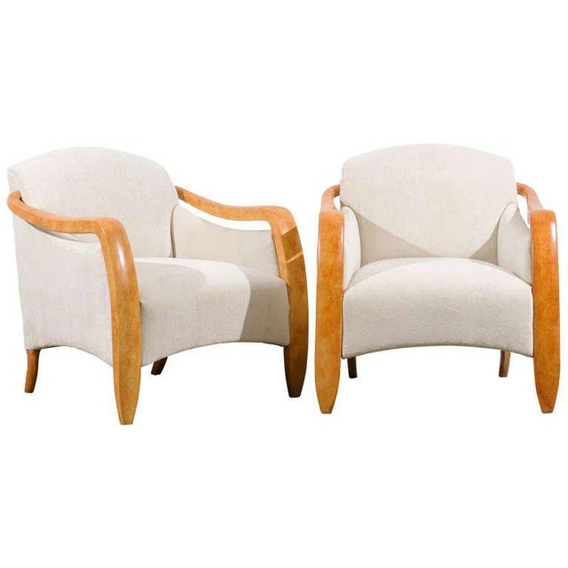 Jaw-Dropping Restored Pair of Modern Club Chairs For Sale - Image 11 of 11