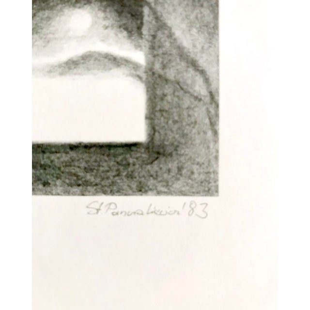Modern 1983 Abstract Landscape Lithograph by Stanislaw Panzakiewicz For Sale - Image 3 of 5