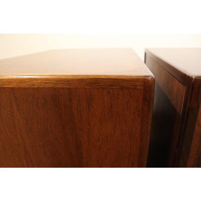 Mid-Century Danish Modern Milo Baughman Founders Walnut Burl Wood Nightstands - a Pair - Image 9 of 11