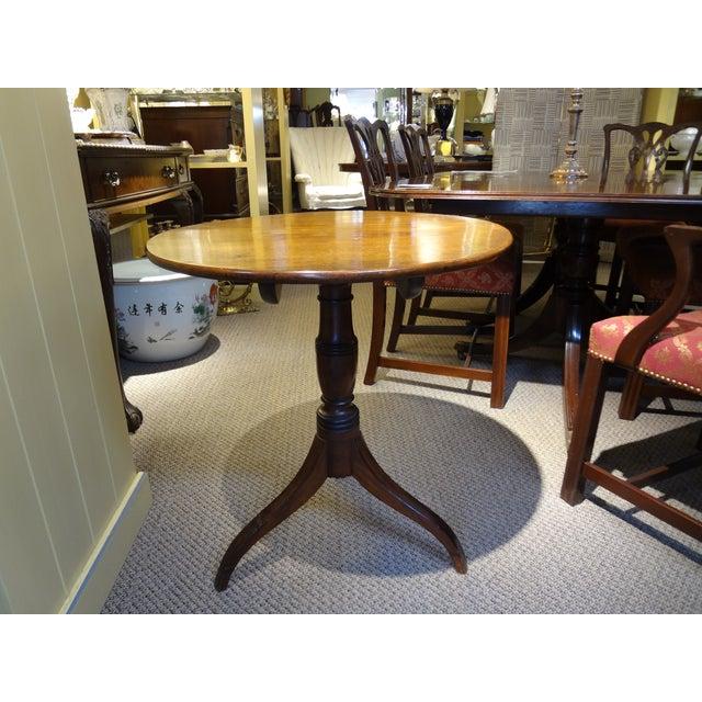 18th Century George III Tilt Top Tea Table For Sale - Image 12 of 13