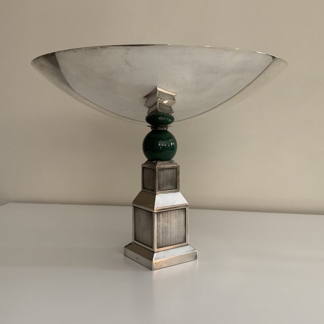 Vintage Gucci Silver Plate Centerpiece Bowl For Sale - Image 11 of 13