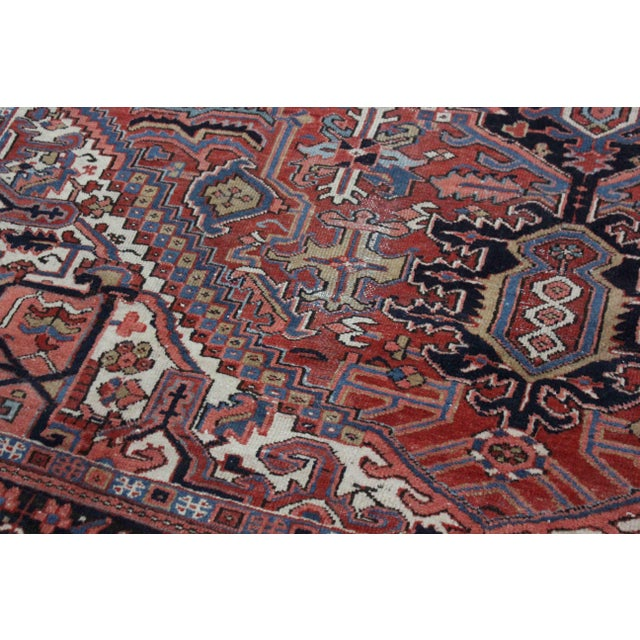 Asian Simi Antique Heriz Rug - 8′10″ × 12′ For Sale - Image 3 of 7