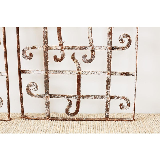 19th Century Set of Three Greek Architectural Iron Window Grills For Sale - Image 5 of 13