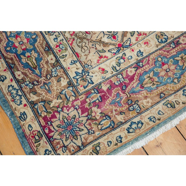 "Vintage Distressed Kerman Carpet - 6'10"" X 9'4"" For Sale In New York - Image 6 of 14"