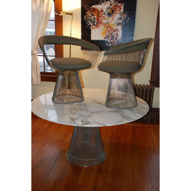 Warren Platner Arabesque Marble Dining Table with Four Chairs For Sale - Image 10 of 10