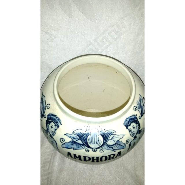 "Amphora Blue Delft ""Amphora"" Hand Painted Porcelain Jar For Sale - Image 4 of 8"
